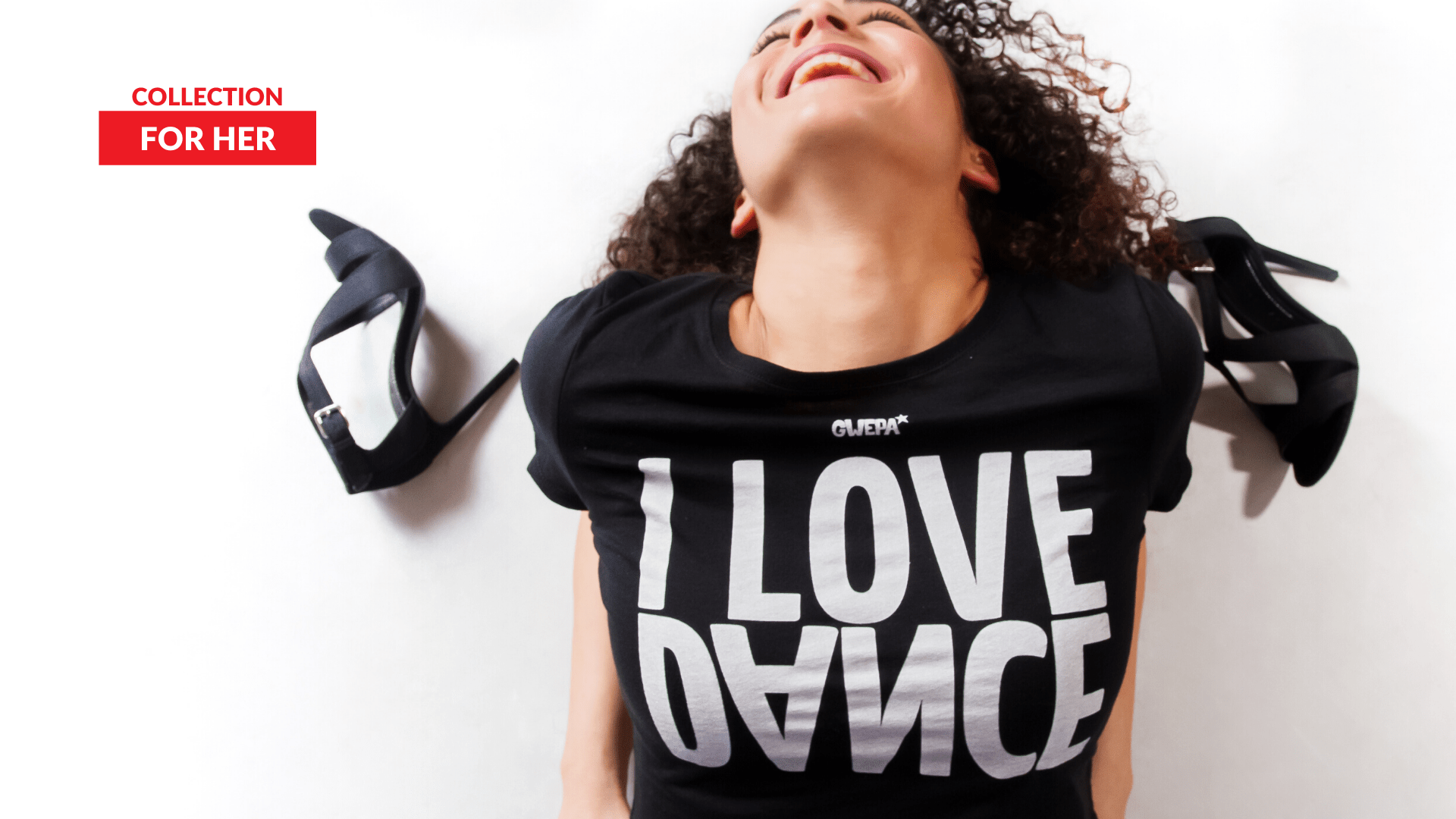 I love dance Black crop top - Gwepa